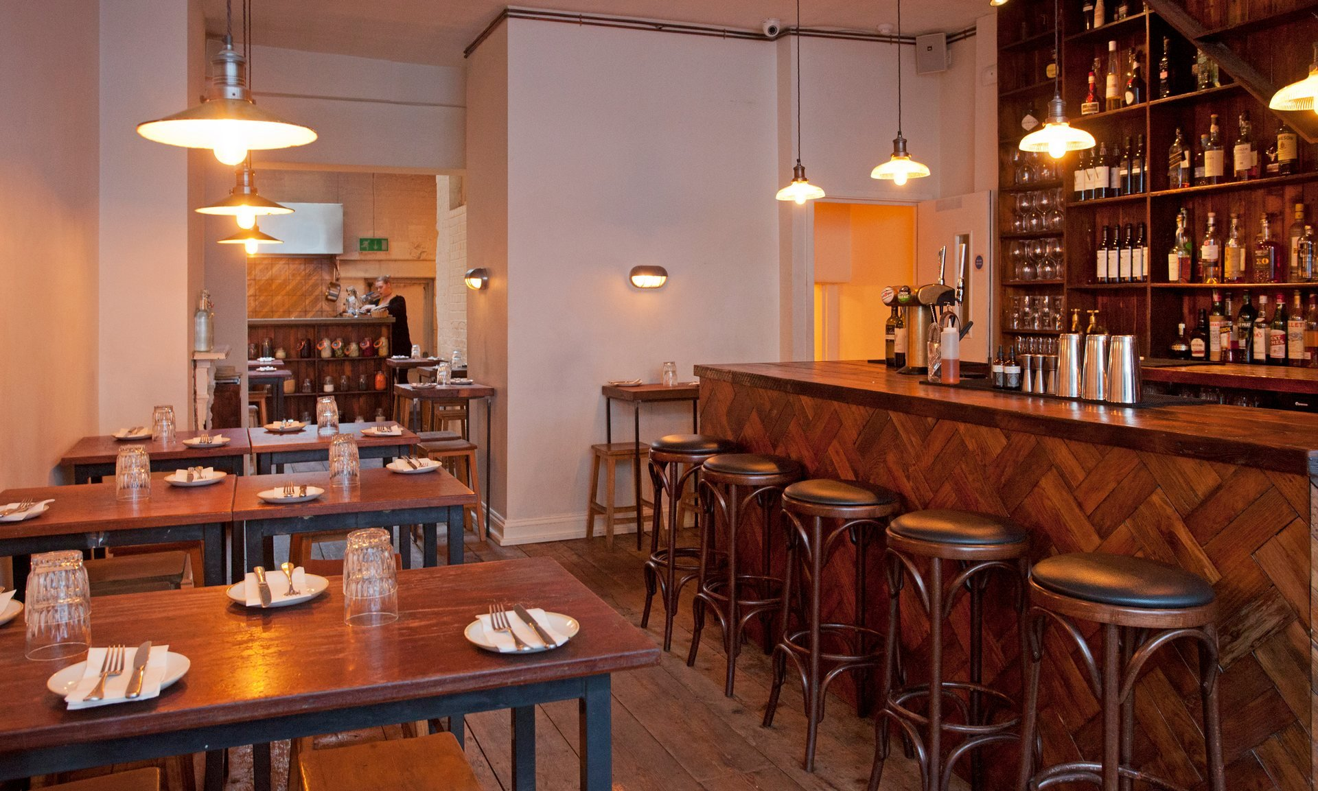 Restaurant complete fit out installed by South East Electricians Shoreditch EC1V London